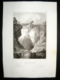 Sweden C1840 Antique Print. Falun Mine